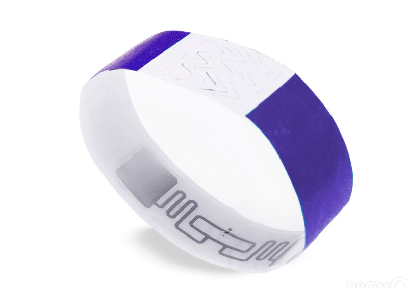 TK01 RFID NFC Sports Tyvek Wristband Disposable Tyvek