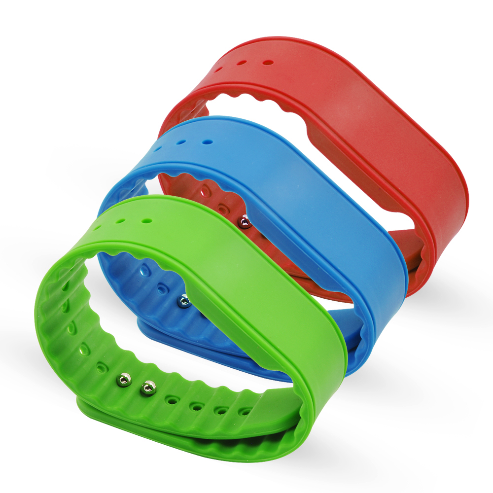 GJ08 RFID NFC Silicone Wristband Reusable Buckle Rubber Wristband