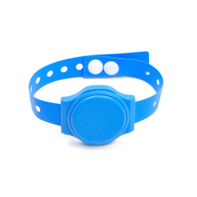 NJ01 RFID Waterproof Oxford Fabric Wristband  Anti-tamper Hand wrist Disposable Button Bracelets