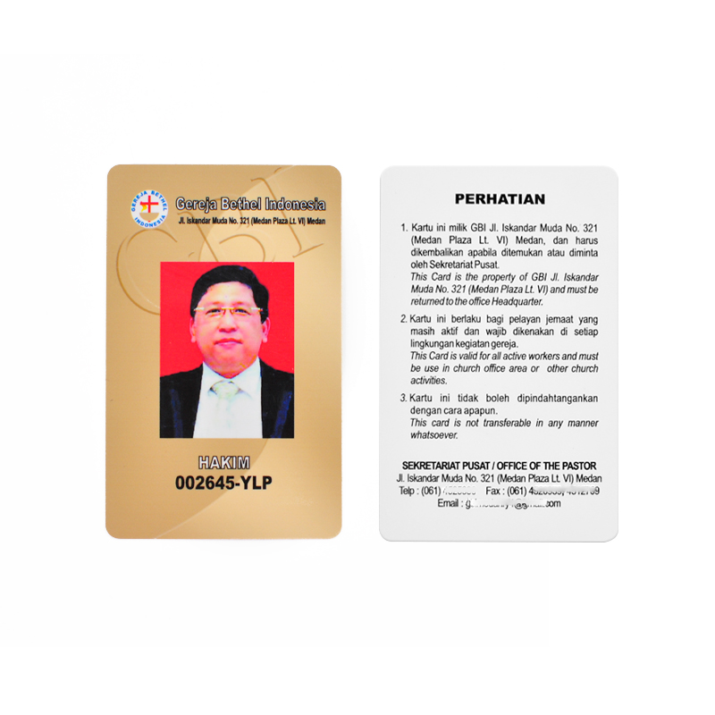 RFID PVC Portrait Card Smart Card NFC Printed Card timecard Employee's card