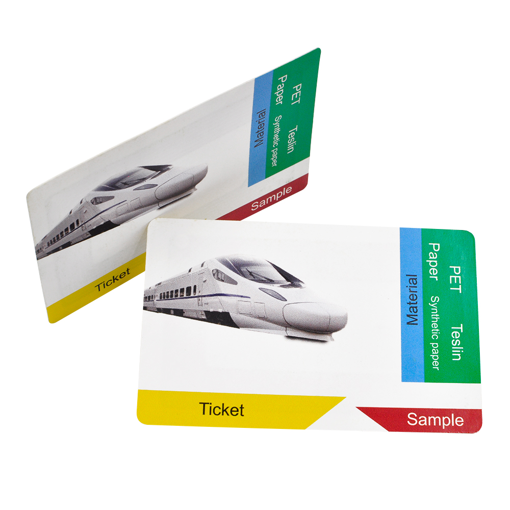 RFID Customized Paper Smart Card NFC Printed Card for Airline ticket Bullet train ticket