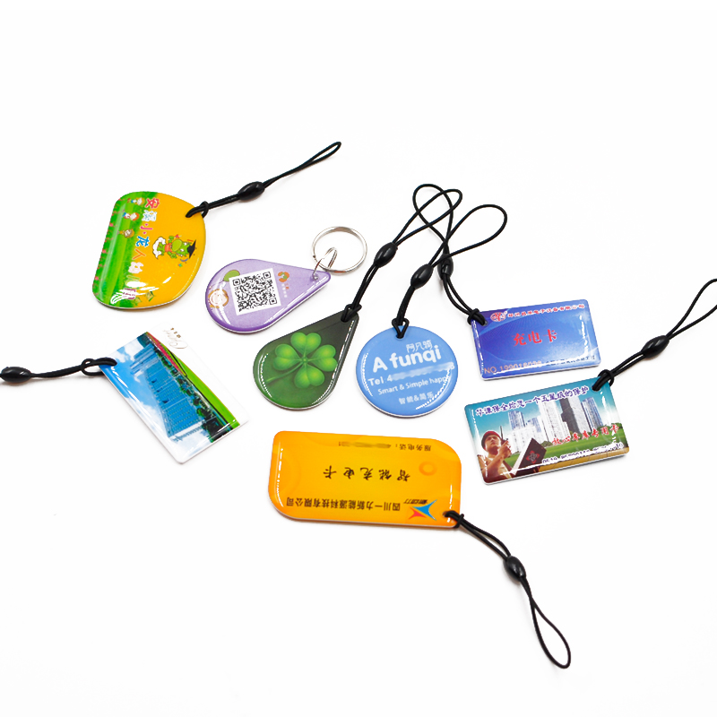 RFID EM4205 Crystal Epoxy Key fob NFC Card Waterproof key chain key holder for Access control,Payment